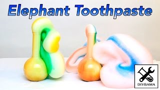 Funny Elephant Toothpaste (Chemical Reaction) width=