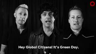 Green Day has a Special Message for all Global Citizens!