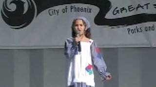 7 Year Old Athena Creese singing Tomorrow from Annie
