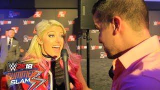Chris Denker Interviews RAW WOMEN'S CHAMP ALEXA BLISS!! (WWE 2K18 SummerSlam KickOff)