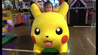 ABCkidTV Misa with Picachu and Toys Car Indoor playground for children - Video for kids width=