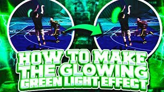 HOW TO MAKE THE GLOWING GREEN LIGHT EFFECT!🔥 NBA 2K18 PHOTOSHOP TUTORIALS!💎