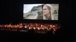 Lord of the Rings: Two Towers Live Concert Eomer's Meeting With The 3 Hunters Scene