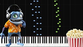 Popcorn - Crazy Frog [Piano Tutorial] (Sheet Music/Piano Cover/Synthesia)