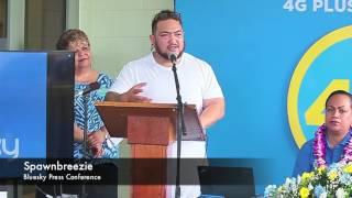 Bluesky Press Conference featured Reggae Artist Spawnbreezie