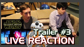 Star Wars The Force Awakens Trailer #3 JEDI LIVE REACTION?! Ep. 7, VII