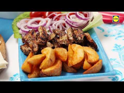 Porc in stil grecesc cu sos tzatziki