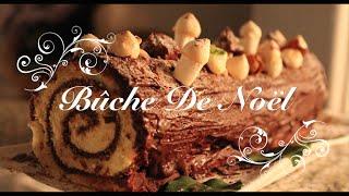 Recette Facile de la Bûche de Noël traditionnelle au chocolat! Christmas Yule Log Recipe