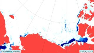 Beaufort Sea Ice Movement in the Spring of 2015