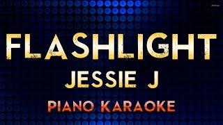 Jessie J - Flashlight | Lower Key Piano Karaoke Instrumental Lyrics Cover Sing Along