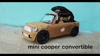 WOW! How to make a convertible car||mini cooper convertible car|| electric toy car