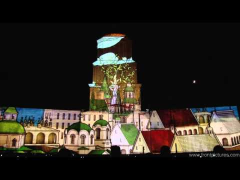 Kyiv is 1530 3D mapping projection. Мain part (www.ukrainetur.com).webm