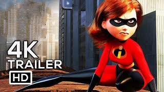 INCREDIBLES 2 Official Trailer 4K ULTRA HD (2018) Disney Animated Superhero Movie