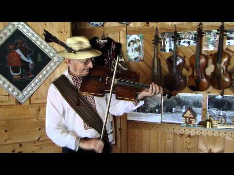 Roman Kumlyk from Ukrainian Carpathians Plays Square Shaped Violin