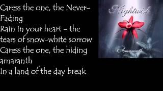 Nightwish - AMARANTH - Lyrics