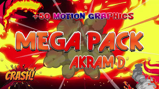 Free  Pack 2D Motion Graphics [ Pc/ Mobile] | ( Ae,SonyVegas...) No Software require