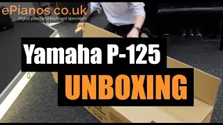 Yamaha P-125 portable piano UNBOXING