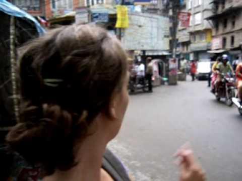 Trafico en Kathmandu (Thamel)