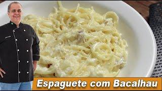 Espaguete com Bacalhau do Chef Taico