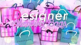 DIY - How to Make: Miniature Doll Designer Shopping Bags