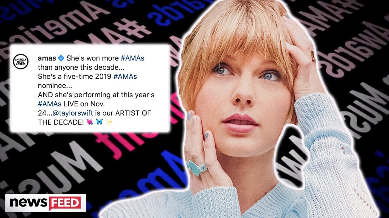 Taylor Swift to receive 'Artist of the decade' Award at AMAs!!!