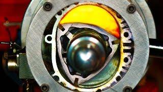 See Thru Rotary Engine in Slow Motion - (Wankel Engine) 4K
