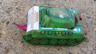 Battle Tank Firework Lighting, Exploding, and Review
