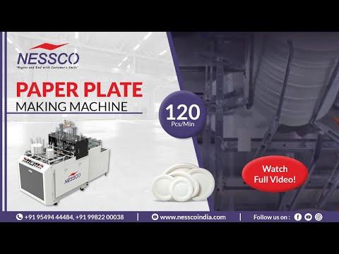 PAPER PLATE MAKING MACHINE (Speed120 PCS/MIN) | Nessco