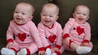 Bebês Engraçados Da Objectiva Tripla Rindo. Compilação [Novo Hd]