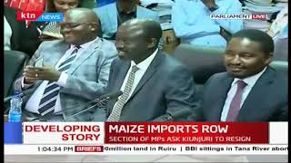 Developing: Section of MPs ask CS Kiunjuri to resign amidst maize imports row