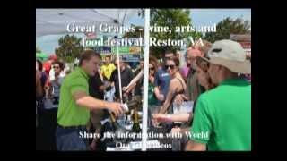 Great Grapes - wine, arts and food festival, Reston Town Center, Reston, VA, US - Part 1