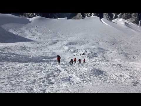 Climb Island Peak Video: At the base of the Island Peak headwall