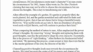 As a Man Thinketh: Man and Circumstances