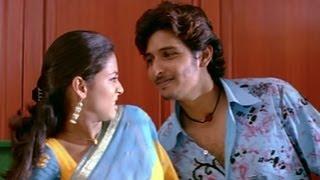 Pooja finds Jeeva in her bedroom - Pori width=