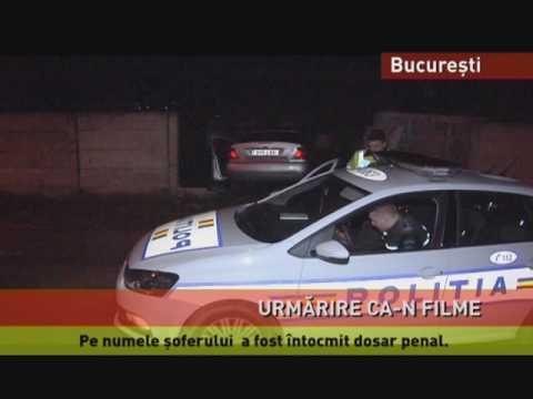 Urmărire ca-n filme pe străzile din București