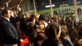 Hino da Galiza no partido da Seleção Galega de Futebol em Santa Isabel