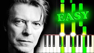 DAVID BOWIE - HEROES - Easy Piano Tutorial