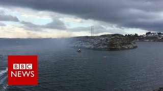 Norway helicopter crash: 13 people missing - BBC News