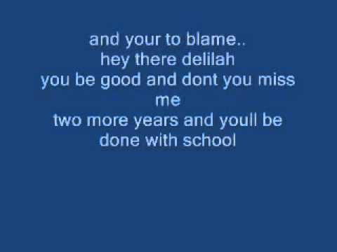 hey there delilah lyrics download