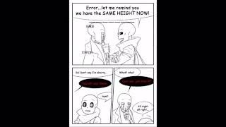 undrtale comic Error Sans and others