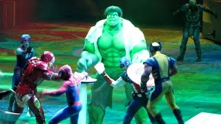 Hulk SMASH at Marvel Universe Live - Battles Loki with Thor, Spider Man, Captain America, Avengers