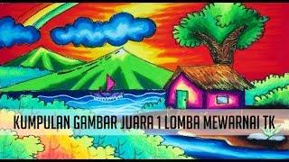 Mewarnai Awan Sore Dengan Crayon (Gradasi) - YouTube