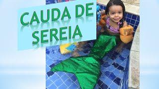 Como Fazer Cauda de Sereia DIY (How to make a mermaid tail)#AliceRegio
