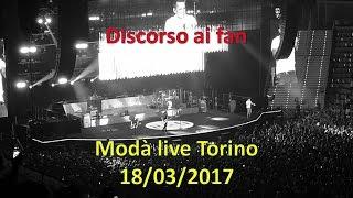 Modà Discorso di Kekko ai fan live Torino 18/03/2017