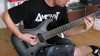 Metal rhythm on a Schecter KM7 Keith Merrow signature