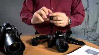 Attaching a camera strap the Nikon way