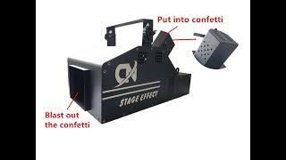 new product small storm confetti machine confetti blaster with DMX control