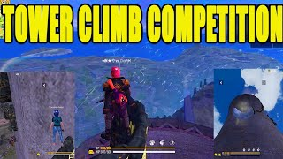 Tower climbing competition   Free fire tower climb    Free fire funy moments