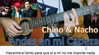 Como Tocar ANDAS EN MI CABEZA en Guitarra / Chino & Nacho Ft Daddy Yankee / MoroMusicPiano