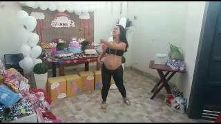 Chá de bebê - grávida dançando Despacito - 33 semanas - #vemYanna